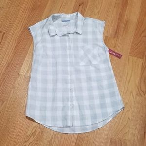 NWT Merona summer checks shirt Size M